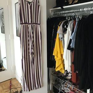 Topshop striped jumpsuit